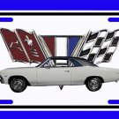 NEW 1966 White Chevy Chevelle w/ Flag Logo License Plate FREE SHIPPING!