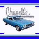 NEW 1967 Blue Chevy Chevelle w/ Chevelle Logo License Plate FREE SHIPPING!