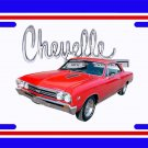NEW 1967 Red Chevy Chevelle w/ Chevelle Logo License Plate FREE SHIPPING!