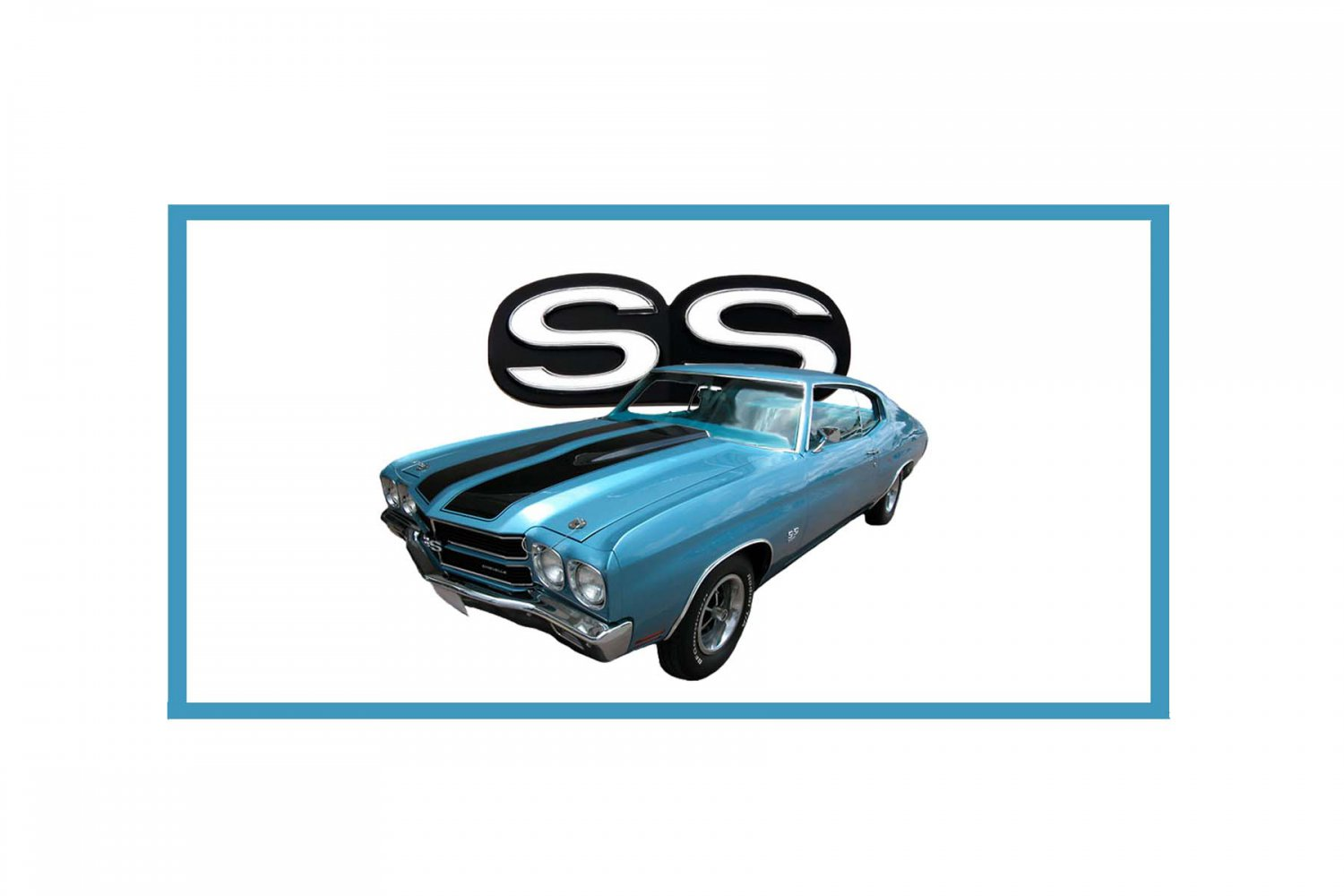 NEW 1970 Blue Chevy Chevelle SS w/ SS Logo License Plate FREE SHIPPING!
