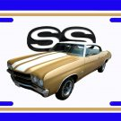 NEW 1970 Gold Chevy Chevelle SS w/ SS Logo License Plate FREE SHIPPING!
