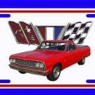NEW Red 1964 Chevy El Camino License Plate FREE SHIPPING!