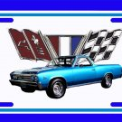 NEW 1967 Blue Chevy El Camino License Plate FREE SHIPPING!
