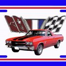 NEW 1970 Red Chevy El Camino License Plate FREE SHIPPING!
