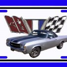 NEW 1971 Silver Chevy El Camino License Plate FREE SHIPPING!