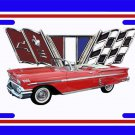 NEW 1958 Red Chevy Impala License Plate FREE SHIPPING!