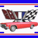 NEW 1966 Red Chevy Impala License Plate FREE SHIPPING!