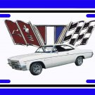 NEW 1966 White Chevy Impala License Plate FREE SHIPPING!