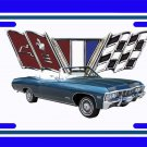 NEW 1967 Blue Chevy Impala License Plate FREE SHIPPING!