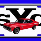 NEW 1969 Red Chevy Yenko Nova w/ YSC Logo License Plate FREE SHIPPING!