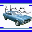 NEW 1972 Blue Chevy Nova w/ Nova Logo License Plate FREE SHIPPING!