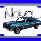 NEW 1969 Blue Chevy Yenko Nova w/ Nova Logo License Plate FREE SHIPPING!