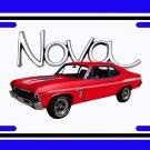 NEW 1969 Red Chevy Yenko Nova w/ Nova Logo License Plate FREE SHIPPING!