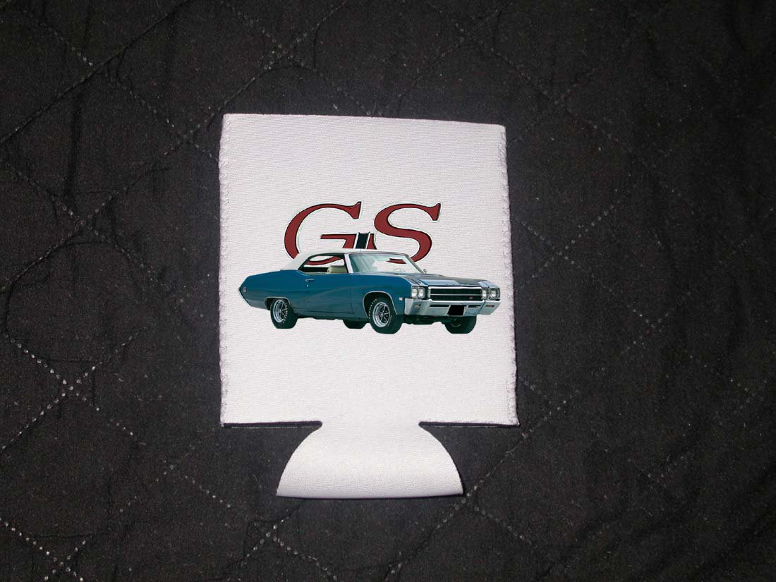 New 1969 Blue Buick Gran Sport (GS)  Coozie (Beverage insulator)