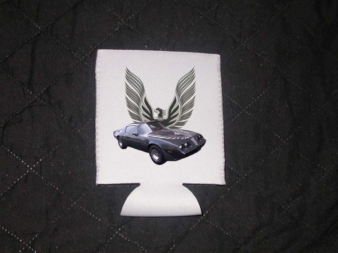 New Gray 1980 Pontiac Firebird Turbo Trans AM Coozie (Beverage insulator)