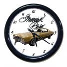 New 1970 Gold Pontiac Grand Prix w/LOGO Wall Clock
