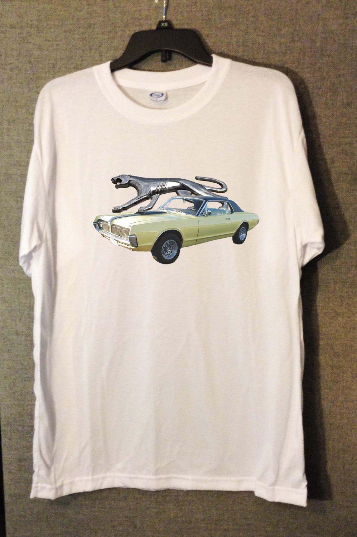 New Light Green 1967 Mercury Cougar white T-shirt  (Small)