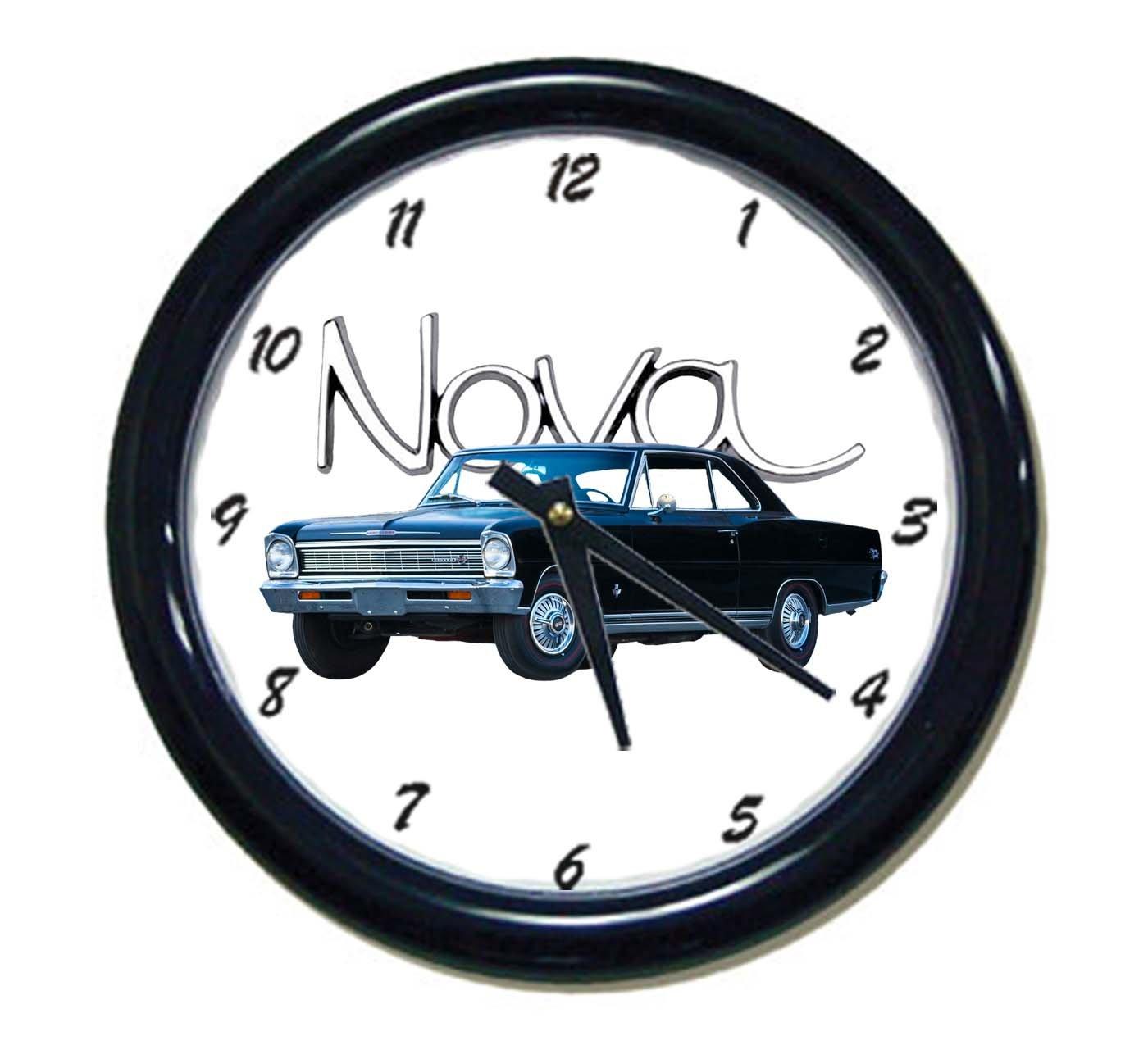 New 1966 Chevy Nova Car Wall Clock