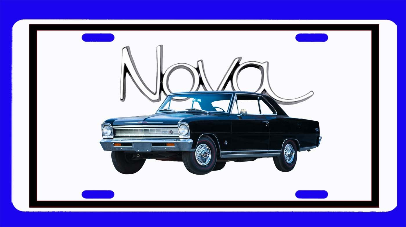 NEW 1966 Chevy Nova License Plate FREE SHIPPING!