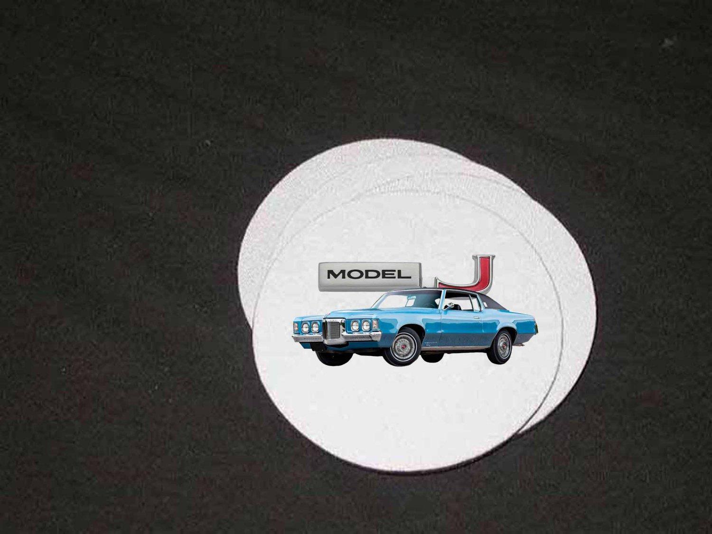 New 1969 Pontiac Grand Prix Soft Coaster set!!