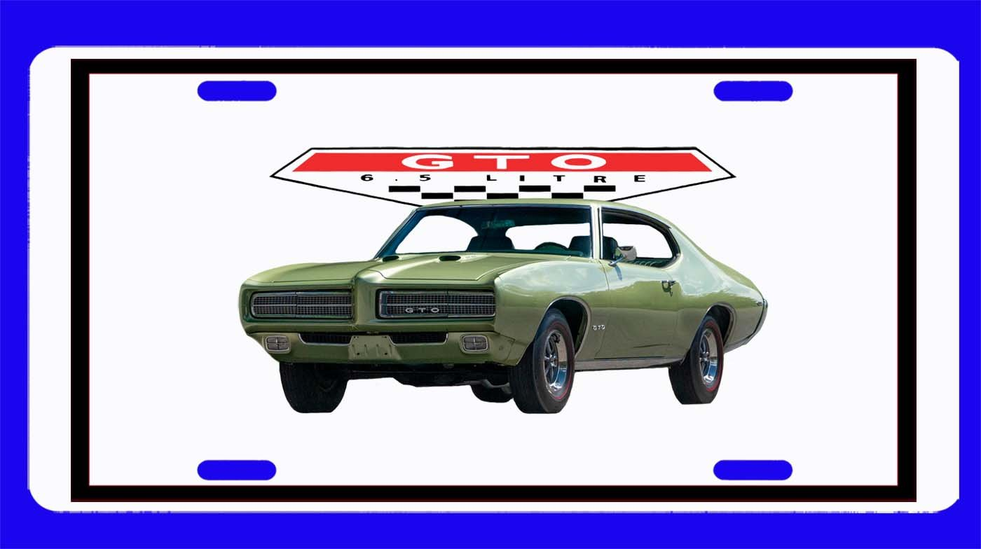 NEW 1969 Pontiac GTO License Plate FREE SHIPPING!
