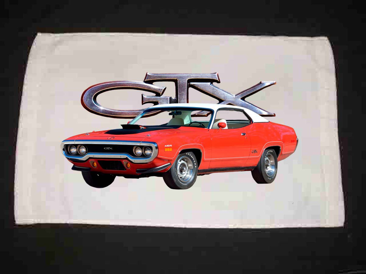 New 1971 Plymouth GTX Hand Towel