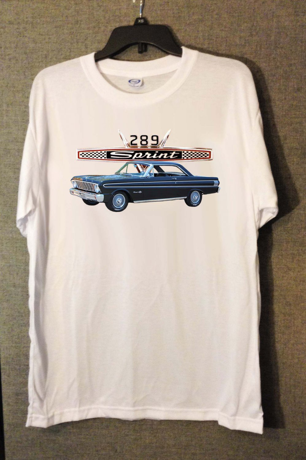 New 1964 Ford Falcon white T-shirt  (Extra Large)