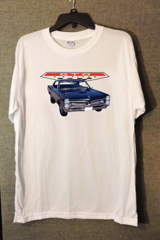 New 1967 Black Pontiac GTO white T-shirt  (3X-Large)