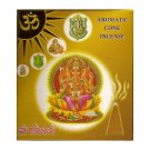 Aromatic Cone Incense from India, 4 scents, 4 Box Pack