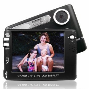 Monster Digital Camera + MP3 Player - 3.6 Inch TFT Display New