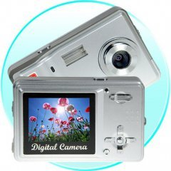 Palm Sized Point and Shoot 5MP Digicam - Silver New