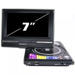 Portable DVD and Multimedia Player with 7 Inch Widescreen LCD New