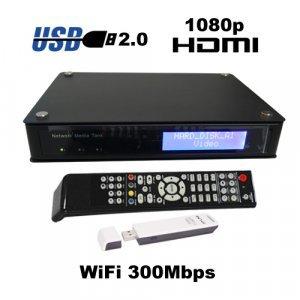 1080P HD Media Tank - Media Network SATA HDD Enclosure with WiFi New