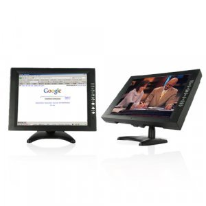 12 Inch LCD Touch Screen Monitor for Computers, TV + DVD Player New