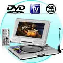 Portable DVD Multimedia Player with 7-inch TFT LCD Screen New