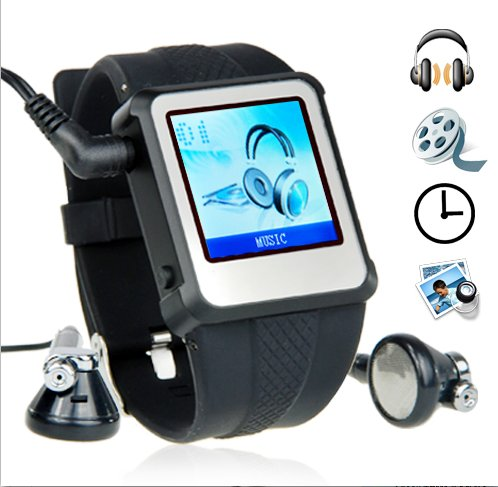 Original Watch MP4 Player 2GB Black - 1.5-inch Screen New