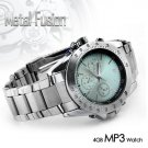 Metal Fusion - Stainless Steel MP3 Watch with Equalizer (4GB) New