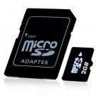2GB MicroSD / TF Card with SD Card Slot Adapter × 10 New