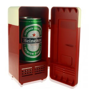 USB Powered Cooler + Heater - Retro Refrigerator Design New