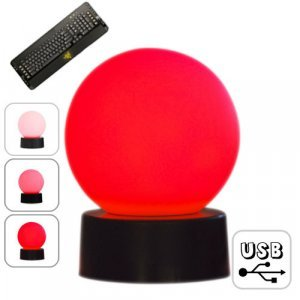 USB LED Globe with Keyboard Response Light � 4 New