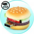 8GB Hamburger Flash Memory Drive - Novelty Shaped USB Storage New