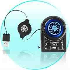Mini Notebook Cooler - Clip On Air Extracting Fan New