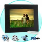 10.4 Inch Digital Photo Frame w/ Remote + Media Player (2GB) New