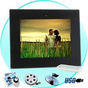 10.4 Inch Digital Photo Frame w/ Remote + Media Player (2GB) New