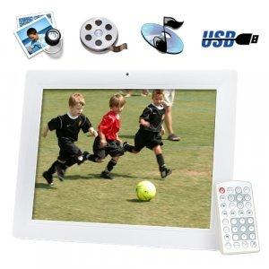 12 Inch Digital Photo Frame w/ Remote + Media Player (2GB) New