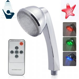 LED Color Changing Shower Head with Remote New