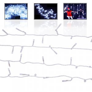 LED Twinkle Lights - 1000 Light Snowfall Curtain New