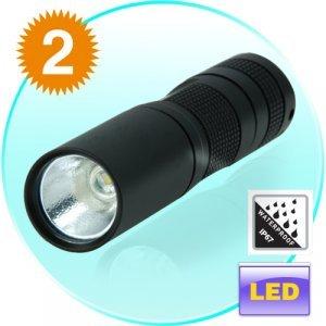Megastar G75 CREE LED Torch Light - Premium Grade LED Flashlight x 2 New