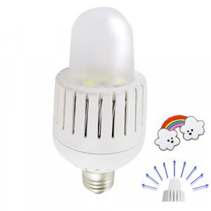LED Light Bulb with Neg-Ion Generator - White (6W) New