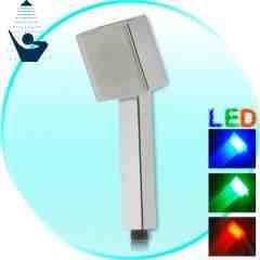 LED Color Changing Shower Head (Square Edition) New